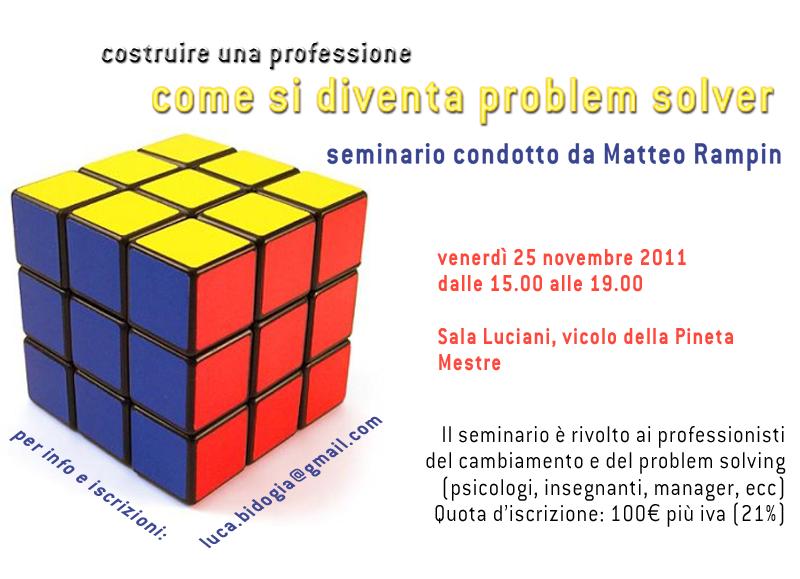 Matteo Rampin: seminario diventa problem solver